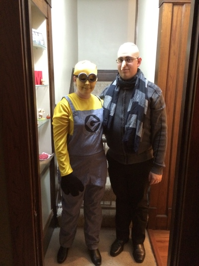 Gru and his minion (us!)