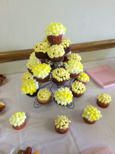 Our popcorn cupcakes!