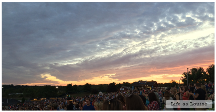 The sunset was more interesting than Hunter Hayes...
